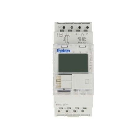 Horloge digitale Theben TR 611 top2 rail DIN,2modules,1 canal, 230V~,1x ext.