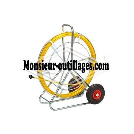 Tambour enrouleur 80, tige renforcée à la fibre de verre Ø 11 mm, 50 m de long