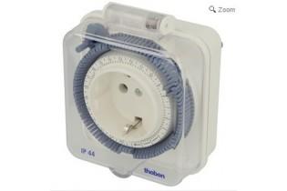 Theben Timer 26 IP44 - 24 h horloge analogique avec couvercle